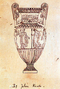 Tracing of an engraving of Sosibios vase by John Keats (from Wikipedia)